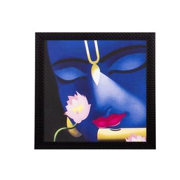 Face Of Lord Krishna Satin Matt Texture UV Art Painting