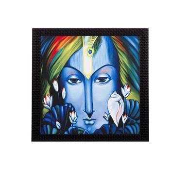 Mighty Lord Krishna Satin Matt Texture UV Art Painting