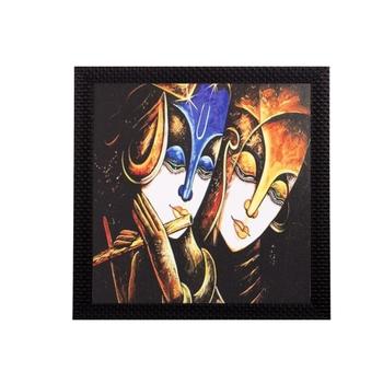 Lord Krishna With Radha Satin Matt Texture UV Art Painting