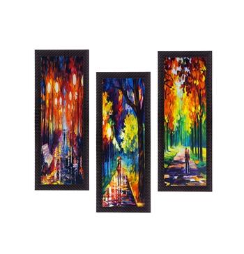 Set Of 3 Beautiful Loving Couple Satin Matt Texture UV Art Painting