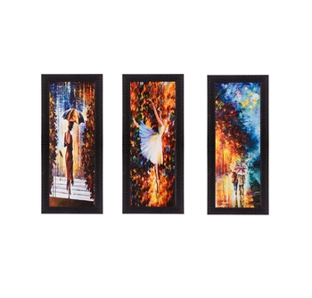 Set Of 3 Beautiful Loving Couple Satin Matt Texture UV Art Painting