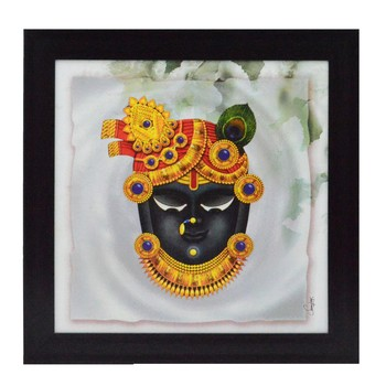 Shree Krishna Design Satin Matt Texture UV Art Painting