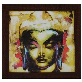 Spritual Buddha Head Satin Matt Texture UV Art Painting