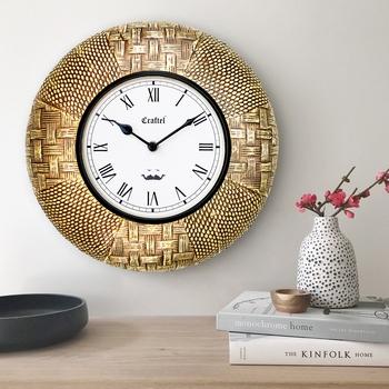 "12"" Antique Brass Metal Decorative wall clock"