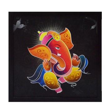 Lord Ganesha Satin Matt Texture UV Art Painting