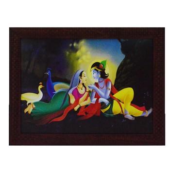 Radha Krishna Love Scene Satin Matt Texture UV Art Painting