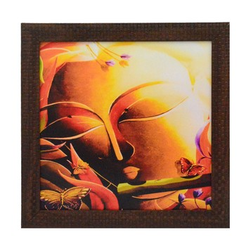 Krishna playing Flute Design Satin Matt Texture UV Art Painting