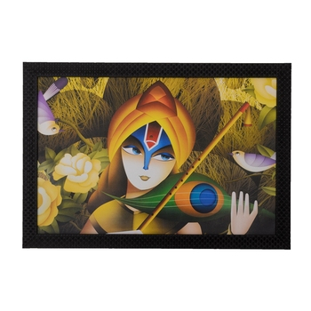Lovable Krishna Satin Matt Texture UV Art Painting