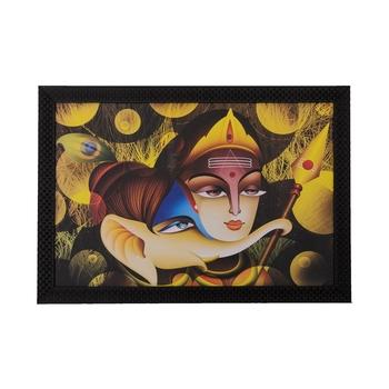 Radha Krishna & Ganesha Satin Matt Texture UV Art Painting