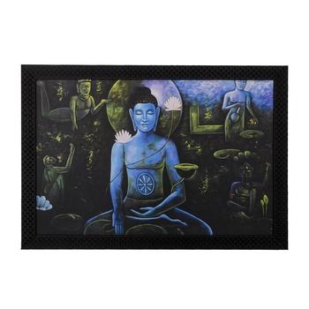 Spritual Buddha with Chakras Satin Matt Texture UV Art Painting