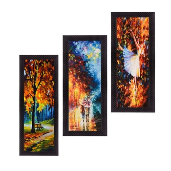 Set Of 3 Couple Love Moments Satin Matt Texture UV Art Painting