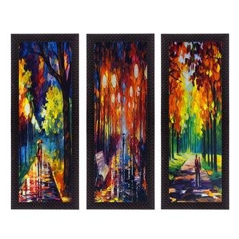 Set Of 3 Couple Love Moments Satin Matt Texture UV Art Painting