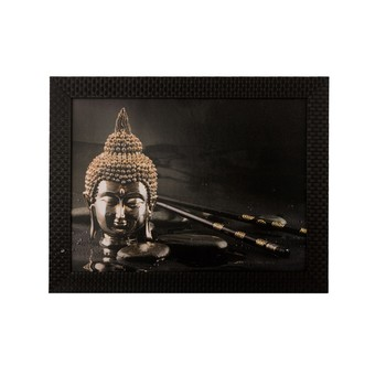 Spritual Buddha Head Satin Matt Texture UV Art Painting