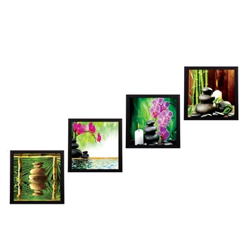 Set Of 4 Nature Shots Satin Matt Texture UV Art Painting
