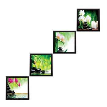Set Of 4 Nature Shots Satin Matt Texture UV Art Painting