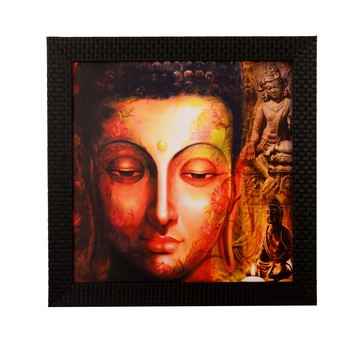 Peaceful Buddha Satin Matt Texture UV Art Painting