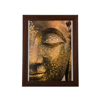 Spritual Buddha Satin Matt Texture UV Art Painting