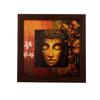 Meditating Buddha Head Satin Matt Texture UV Art Painting