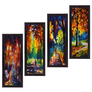 Set Of 4 Loving Couple Moments Satin Matt Texture UV Art Painting