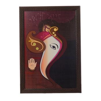 Blessing Lord Ganesha Satin Matt Texture UV Art Painting