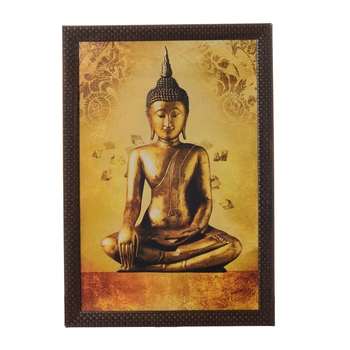 Meditating Buddha Satin Matt Texture UV Art Painting