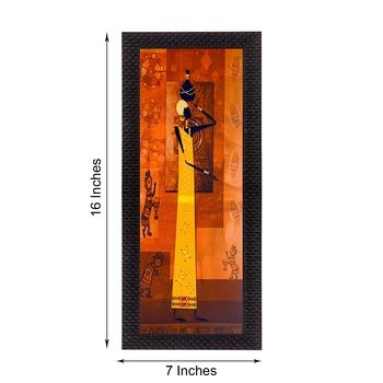 Abstract Tribal Woman Satin Matt Texture UV Art Painting