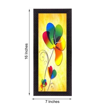 Abstract Colorful Flower Satin Matt Texture UV Art Painting