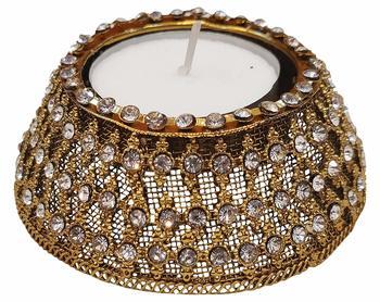 R Sanskruti Handmade Decorative Antique Candles Holder for Home Office Puja Articles Diya Set (Pack of 6)