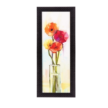 Abstract Colorful Flowers Satin Matt Texture UV Art Painting