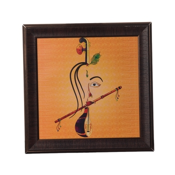 Abstract Krishna Satin Matt Texture UV Art Painting