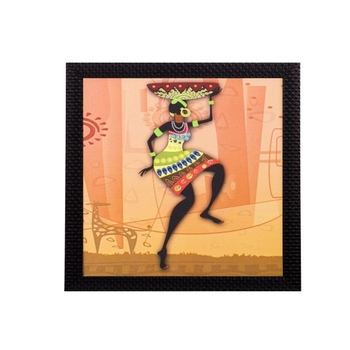 Dancing Woman Satin Matt Texture UV Art Painting