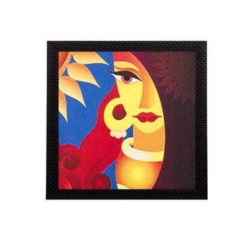 Abstract Beautiful Woman Satin Matt Texture UV Art Painting