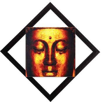 Glowing Face of Lord Buddha Satin Matt Texture UV Art Painting