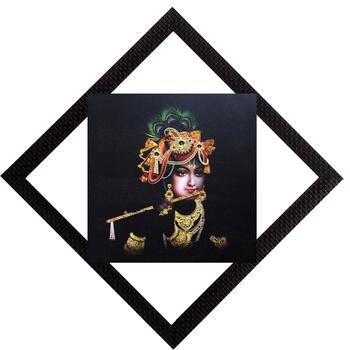 Lord Krishna With Flute Satin Matt Texture UV Art Painting