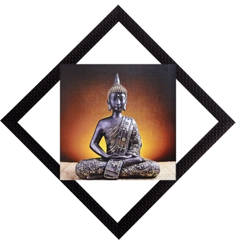 Meditating Pose Of Lord Buddha Satin Matt Texture UV Art Painting