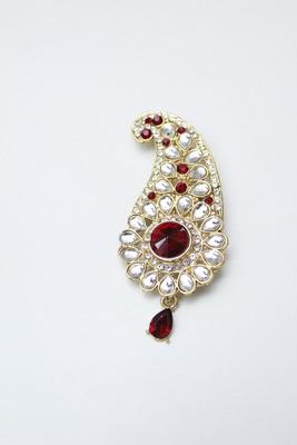 Red diamond brooch