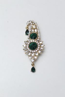 Green diamond brooch