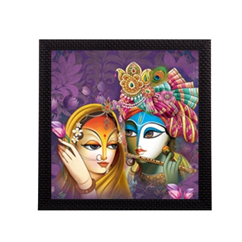Abstract Radha Krishna Satin Matt Texture UV Art Painting