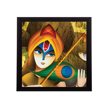 Lord Krishna Satin Matt Texture UV Art Painting