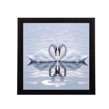 Beautiful Swan Matt Textured UV Art Painting