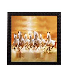 7 Running Lucky Horses Design Satin Matt Texture UV Art Painting