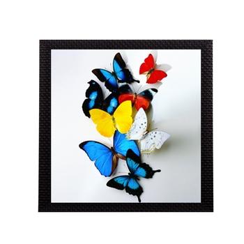 Beautiful Colored Butterfly Matt Textured UV Art Painting