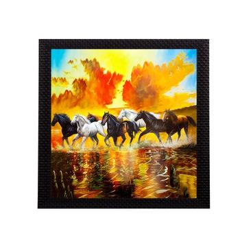 7 Running Lucky Horses Design Satin Matt Texture UV Art Painting
