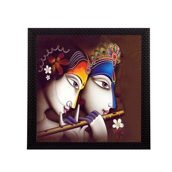 Abstract Radha Krishna Satin Matt Texture UV Art Painting