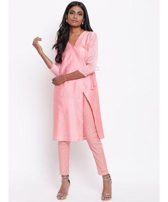 Pink Foil Angrakha Set