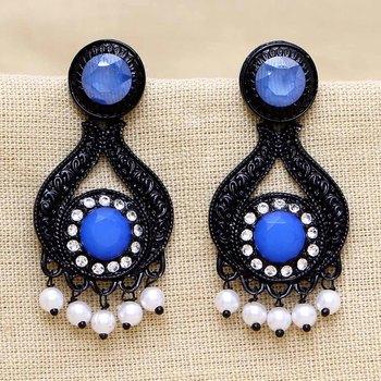 Blue danglers-drops