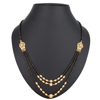 Black diamond mangalsutra