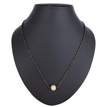 Black diamond mangalsutra