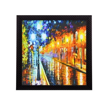 Beauty under Rain Satin Matt Texture UV Art Painting