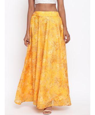 Yellow Foil Organza Skirt